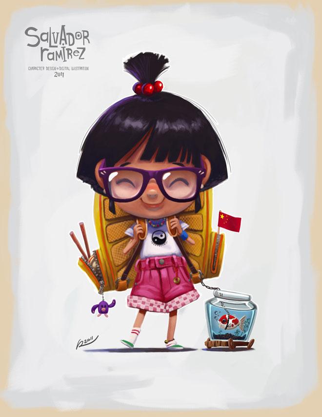 14-school-girl-digital-art-by-salvador