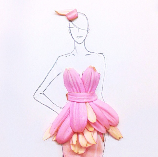 Fashion-Design-Illustrations-Out-Of-Flower-Petals-11-600x596