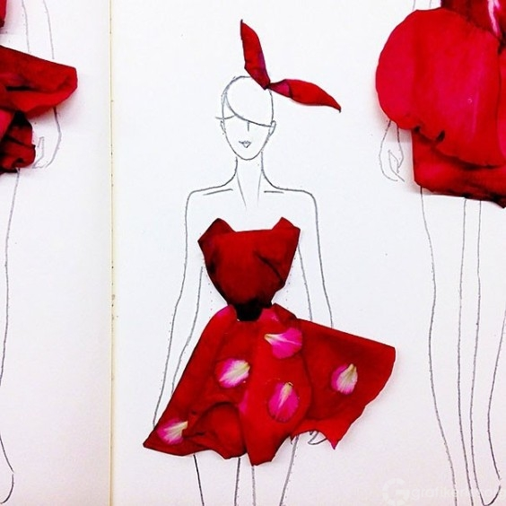 Fashion-Design-Illustrations-Out-Of-Flower-Petals-12