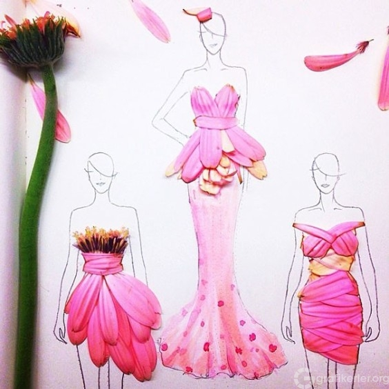 Fashion-Design-Illustrations-Out-Of-Flower-Petals-14