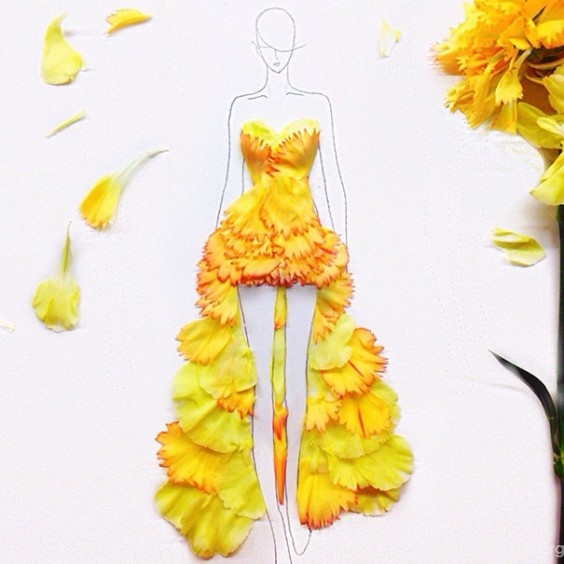 Fashion-Design-Illustrations-Out-Of-Flower-Petals-2