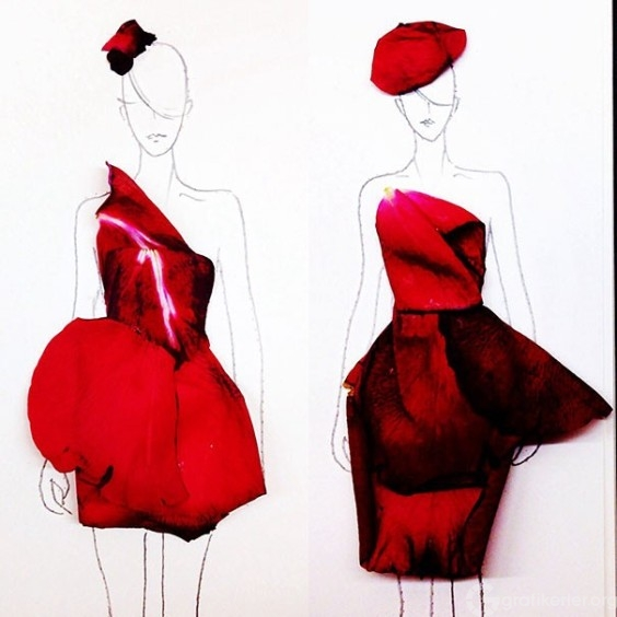 Fashion-Design-Illustrations-Out-Of-Flower-Petals-3