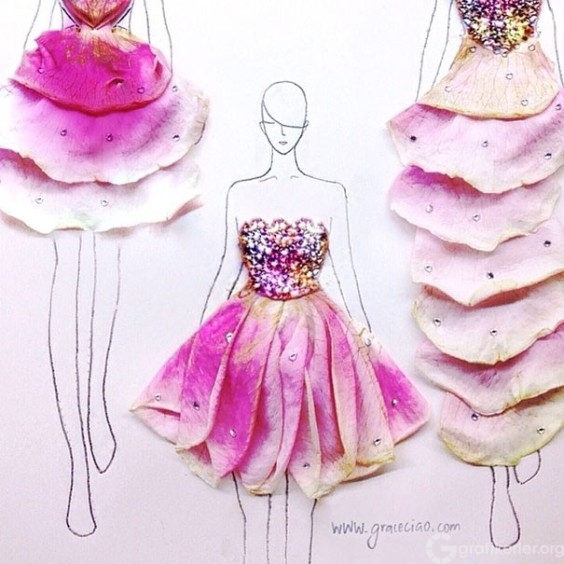 Fashion-Design-Illustrations-Out-Of-Flower-Petals-7