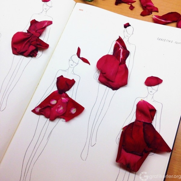 Fashion-Design-Illustrations-Sketched-with-Real-Flower-Petals-1
